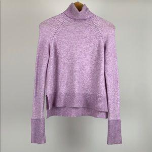 J.crew Side Slit Supersoft Turtleneck Sweater Wool